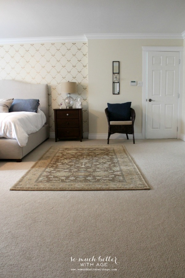 French / master bedroom style and floor plan via somuchbetterwithage.com