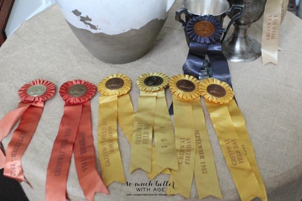 Horse show ribbons via somuchbetterwithage.com