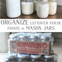 Organize Leftover House Paints in Mason Jars