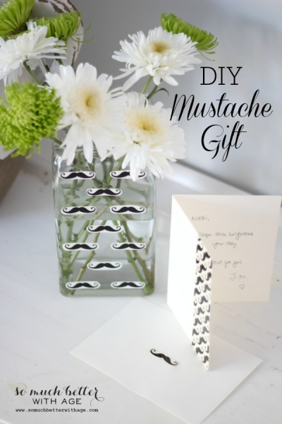 Mustache Gift Set with Duck Tape