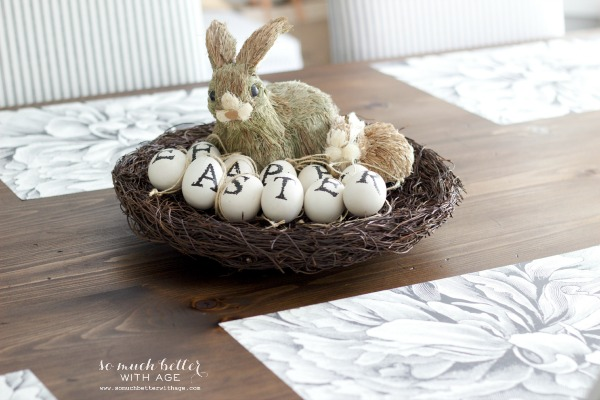 Happy Easter / Easy spring craft via somuchbetterwithage.com