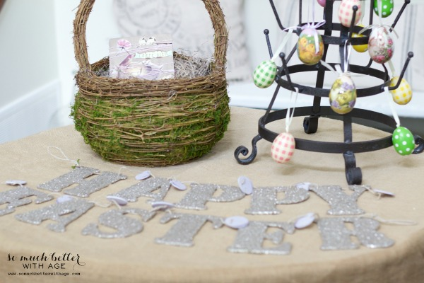 Easter decor / Easy spring craft via somuchbetterwithage.com