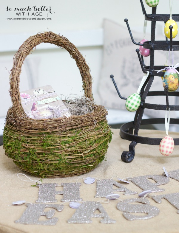 Easter decorating / Easy spring craft via somuchbetterwithage.com