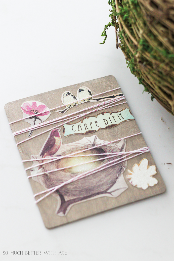 Easy Spring Craft/birds, flower art - So Much Better With Age