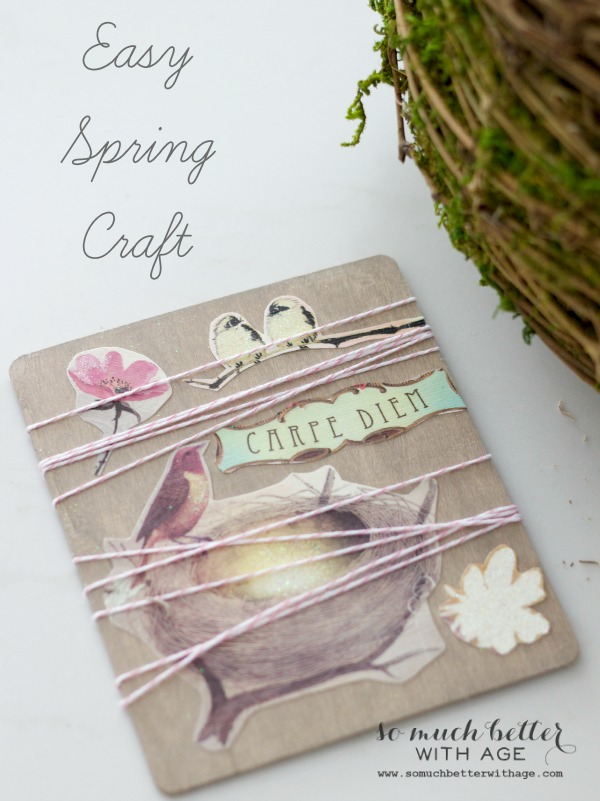 Easy spring craft art via somuchbetterwithage.com