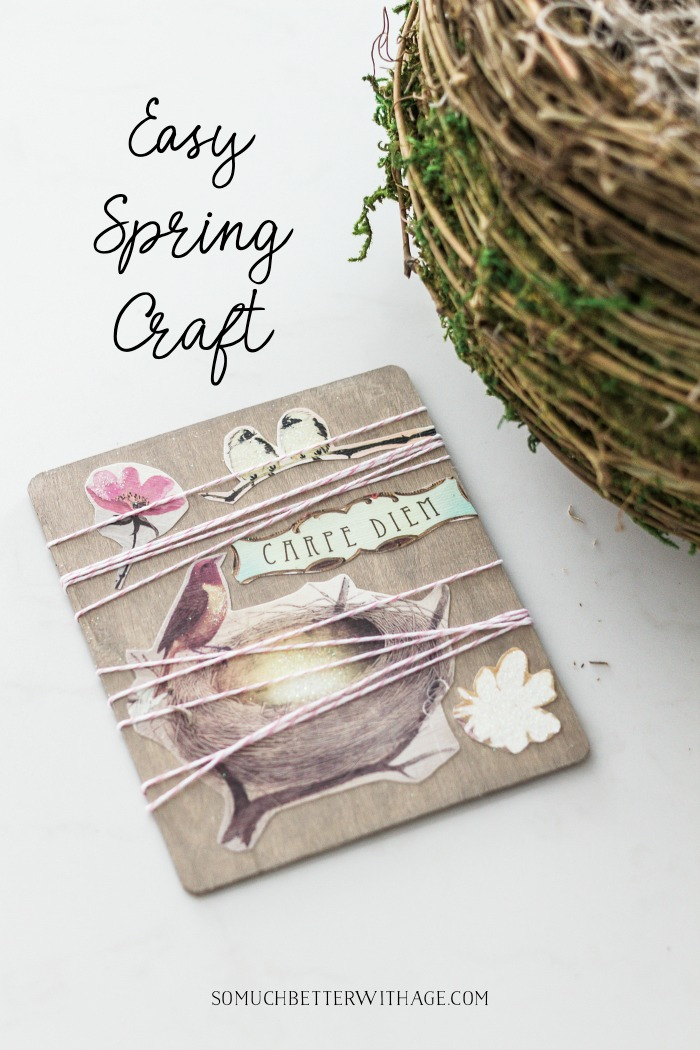 Easy Spring Craft - So Much Better With Age
