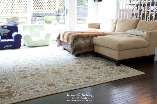 Adding color to the family room / room with rug - So Much Better With Age