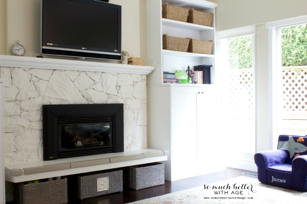 Adding color to the family room / built in shelves - So Much Better With Age