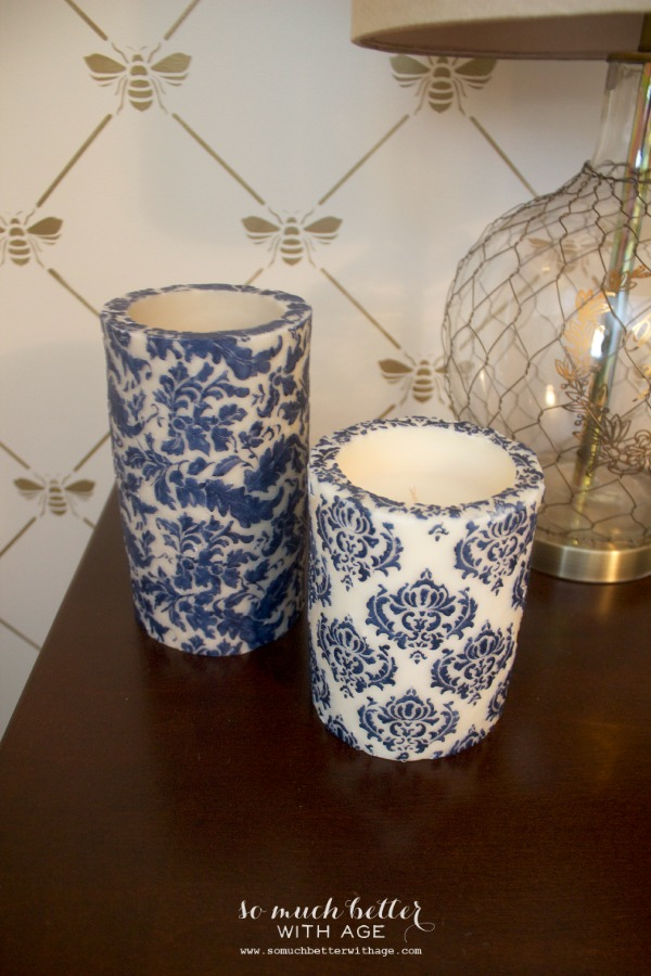 Updated Furniture / intricate details on candles - So Much Better With Age