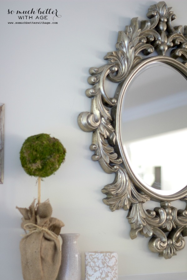 My New French Mirror / scroll details - So Much Better With Age