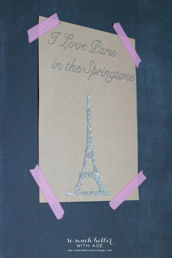 I love Paris in the springtime art - a newbie silhouette cameo tutorial