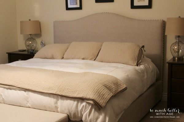 Indigo Dyed Pillow Shams / Pottery Barn bedding - So Much Better With Age