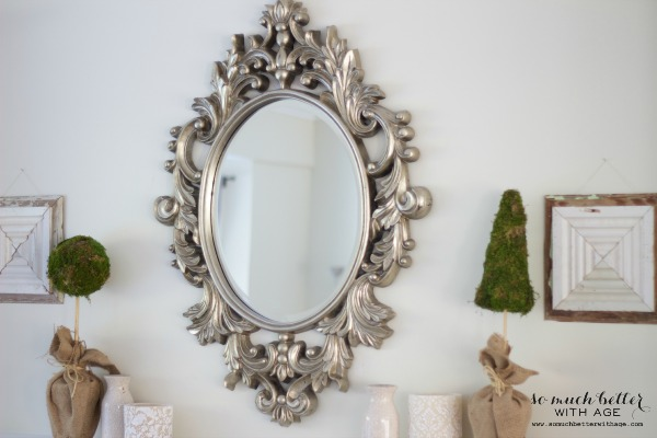 My New French Mirror / items on wall - So Much Better With Age