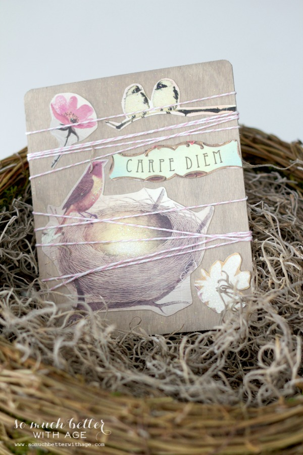 Postcard / Easy spring craft via somuchbetterwithage.com
