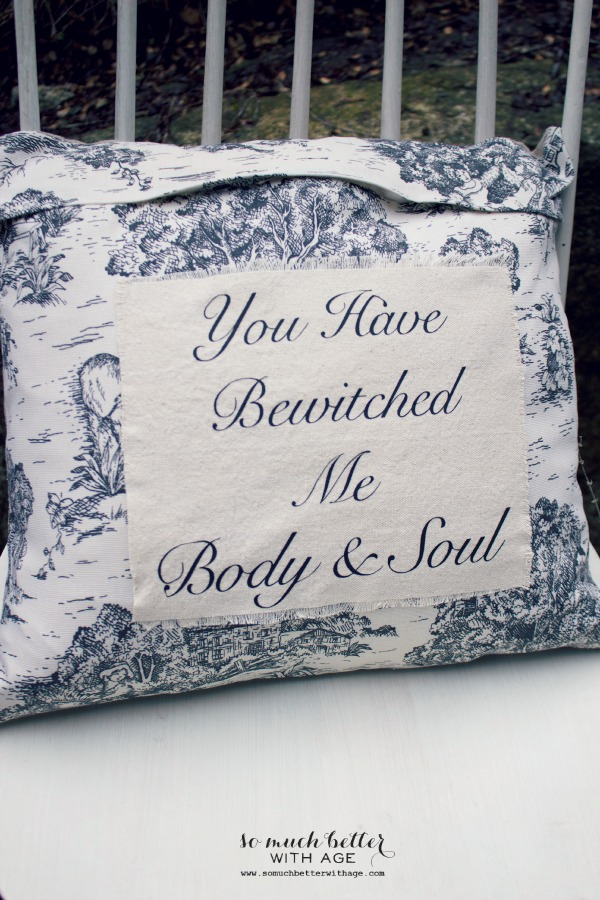 You have bewitched me body and soul pillow