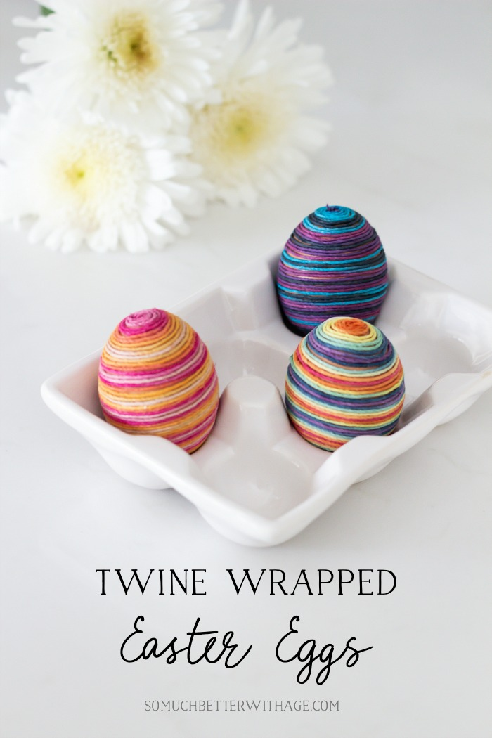 Twine Wrapped Easter Eggs/wrapped in hemp - So Much Better With Age