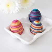 Twine Wrapped Easter Eggs + Video