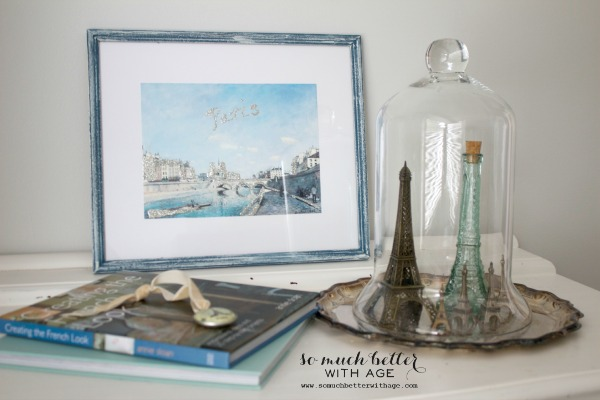 French / DIY artwork makeover via somuchbetterwithage.com