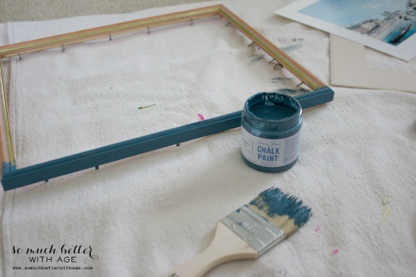 DIY artwork makeover trash to treasure / ASCP Aubusson Blue - So Much Better With Age