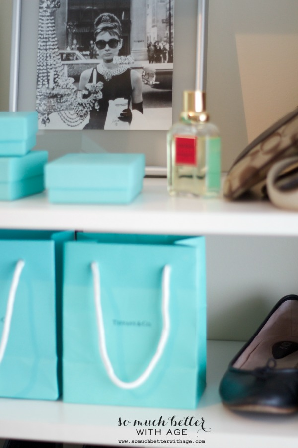Audrey Hepburn Inspired Closet / Tiffany's bags - So Much Better With Age