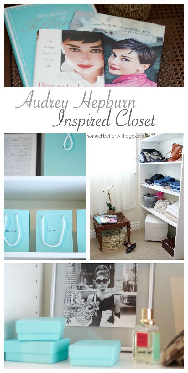 Audrey Hepburn inspired walk-in closet