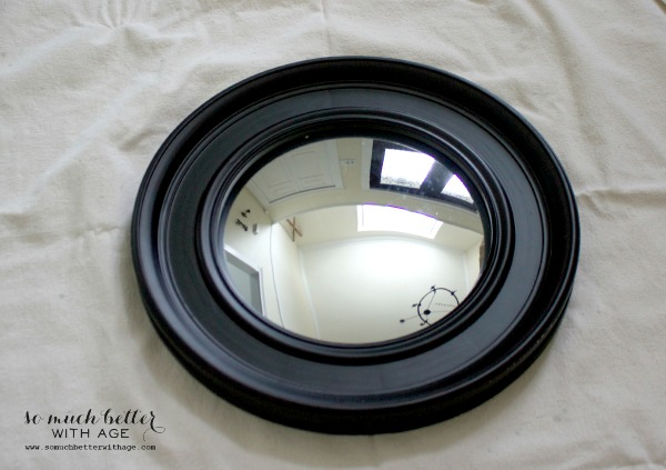 Convex mirror / Gold leaf painted mirror via somuchbetterwithage.com