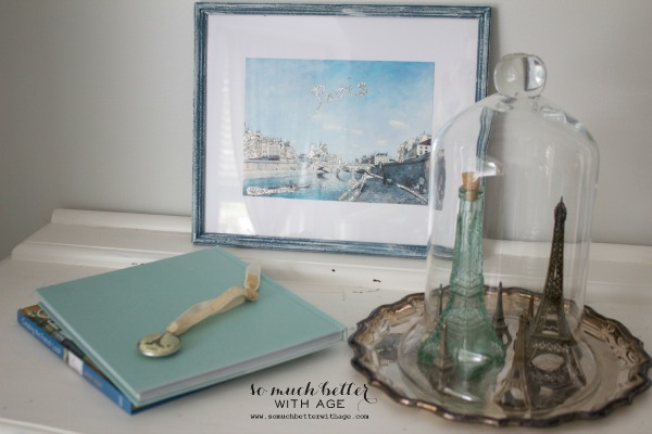 DIY artwork makeover trash to treasure / Eiffel tower collection - So Much Better With Age
