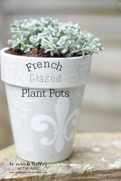 French Glazed Plant Pots