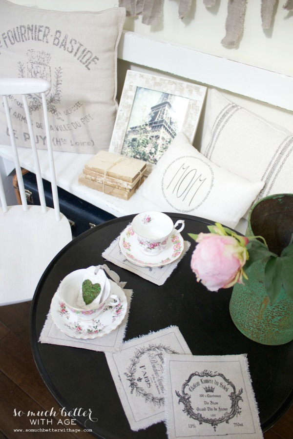 Vintage / Mother's day tea party via somuchbetterwithage.com