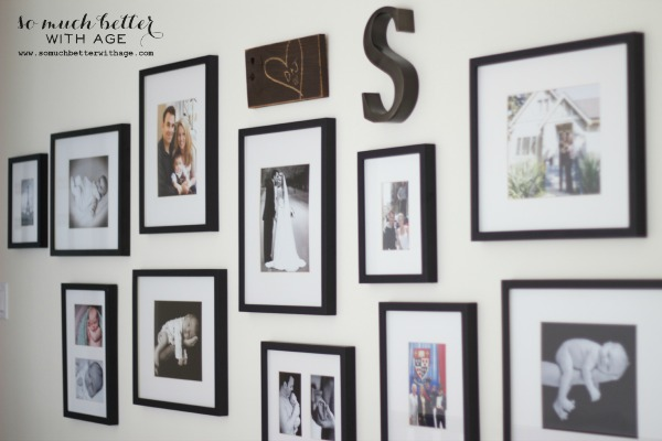 Pottery Barn frames / my gallery wall via somuchbetterwithage.com