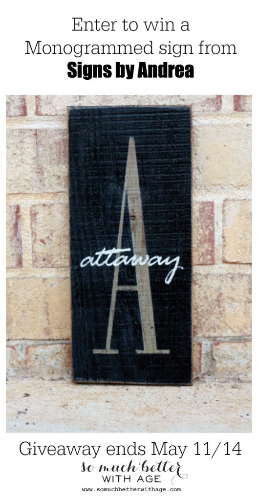 Giveaway Signs by Andrea / my gallery wall via somuchbetterwithage.com