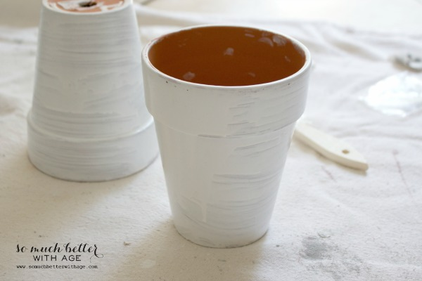 French glazed plant pots / glaze drying on pots - So Much Better With Age