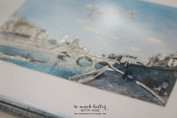 Le Seine / DIY artwork makeover via somuchbetterwithage.com