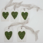 Moss hearts gift tags / Abby's Paperie Garden - So Much Better With Age