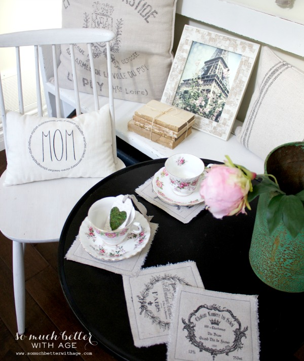 vintage tea cups / Mother's day tea party via somuchbetterwithage.com