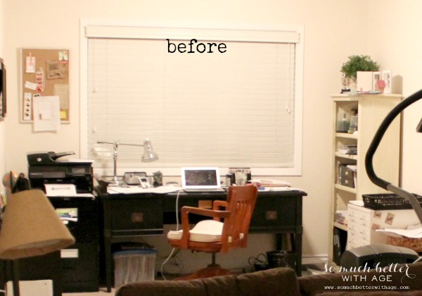 Before / My office has goals via somuchbetterwithage.com