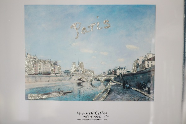 Paris artwork / DIY artwork makeover via somuchbetterwithage.com