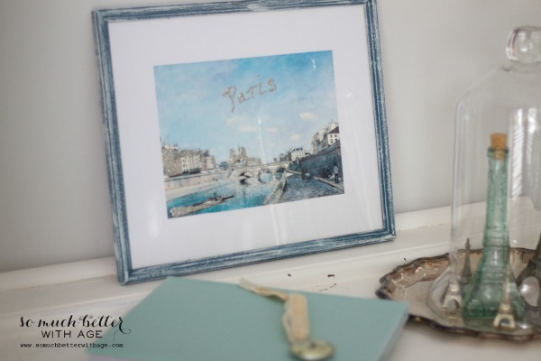 French artwork / DIY artwork makeover via somuchbetterwithage.com