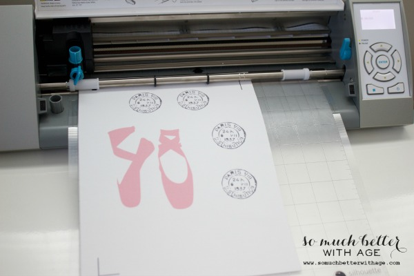 Ballet shoes / Cotton canvas bags and magnets using Silhouette Cameo machine