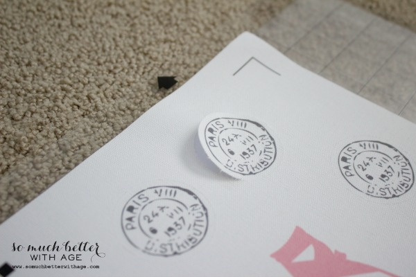 French stamps /Cotton canvas bags and magnets using Silhouette Cameo machine