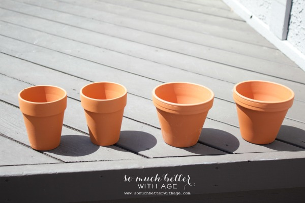French glazed plant pots / Terra cotta pots - So Much Better With Age