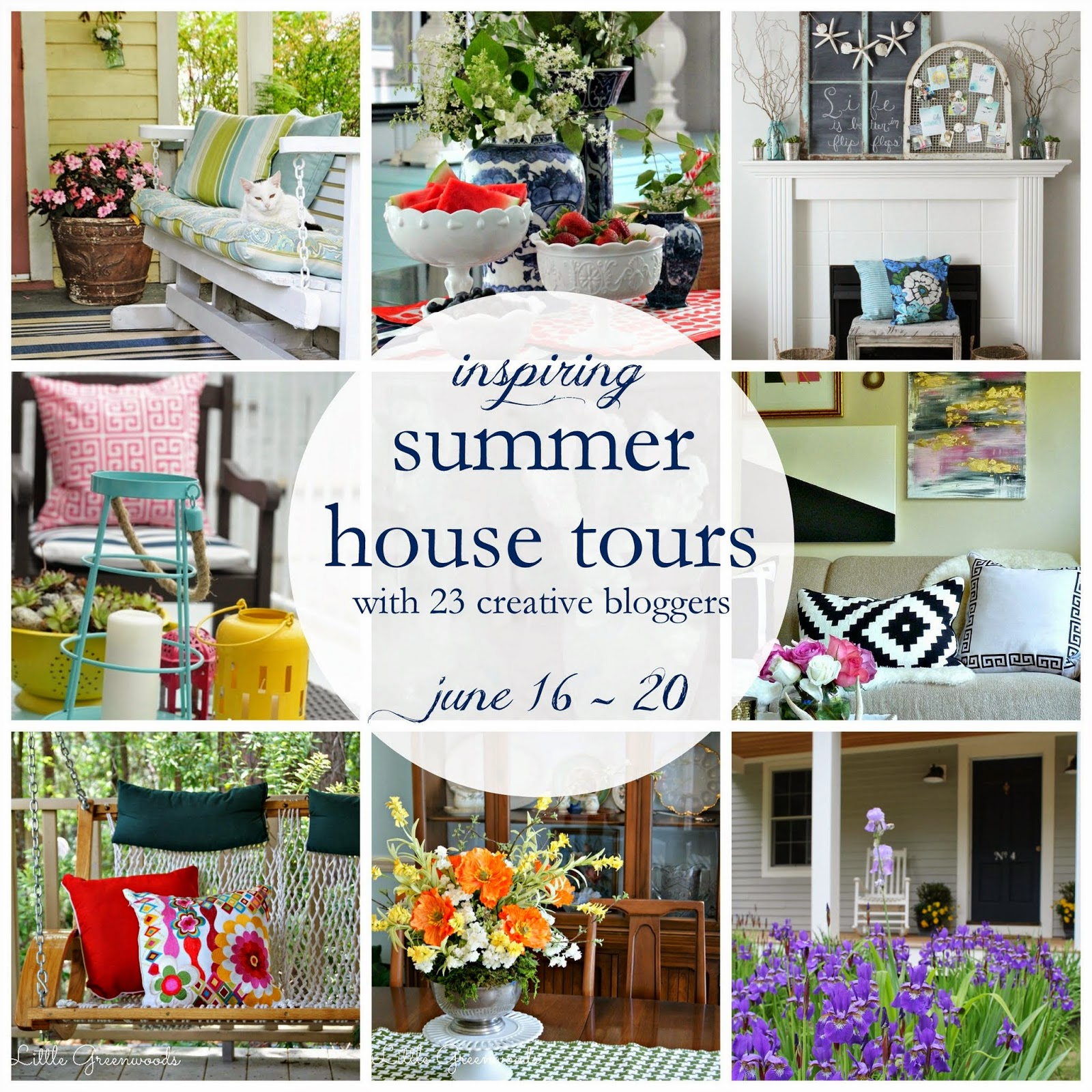 Summer house tour via somuchbetterwithage.com