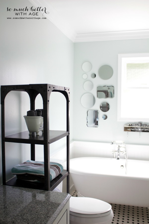 Bathroom update with Decor Steals via somuchbetterwithage.com