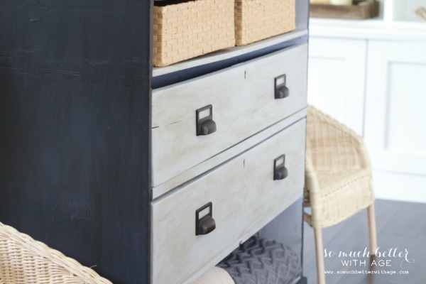 Dresser makeover with chalk paint / great place for storage - So Much Better With Age