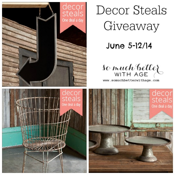 Decor Steals giveaway poster.