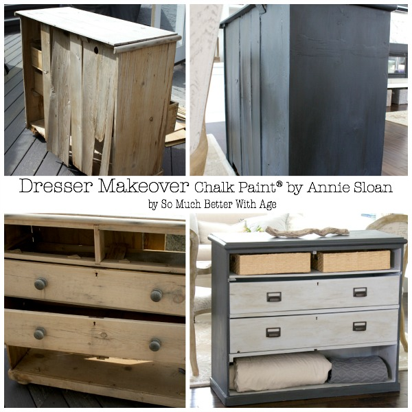 Dresser Makeover with Annie Sloan Chalk Paint by somuchbetterwithage.com