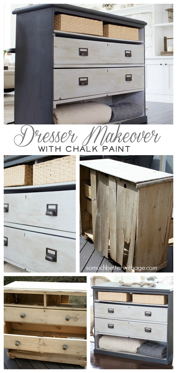 Dresser makeover with chalk paint - finished dresser - So Much Better With Age