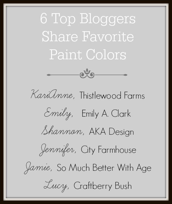 6 top bloggers share favorite paint colors via somuchbetterwithage.com