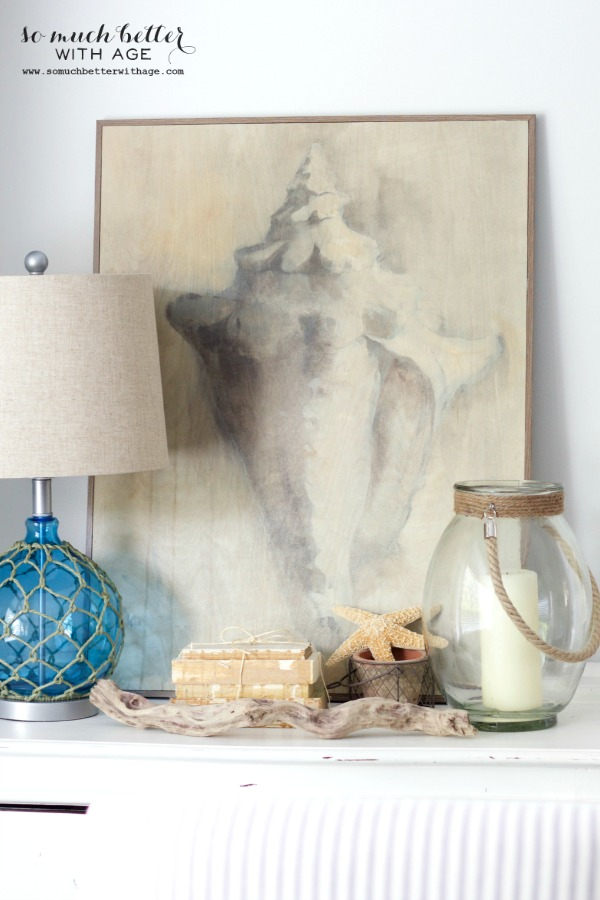 Conch shell artwork / Getting beachy with Kirkland's via somuchbetterwithage.com