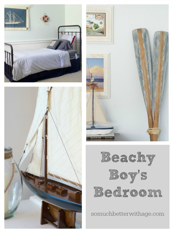 Beachy boy's bedroom poster.